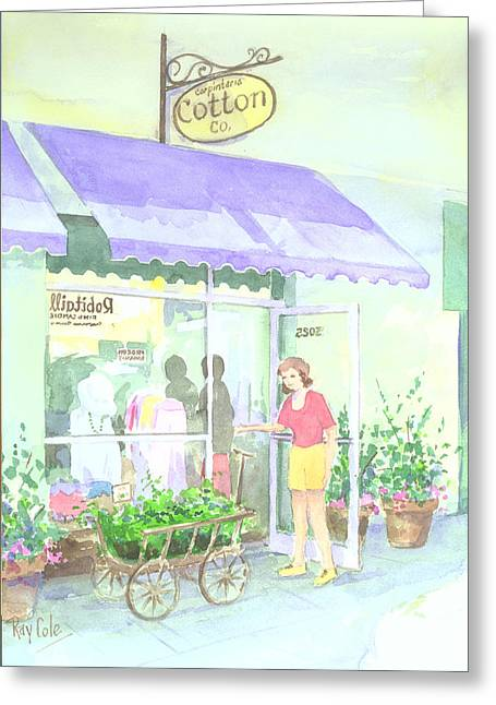 Cotton Co Greeting Card by Ray Cole