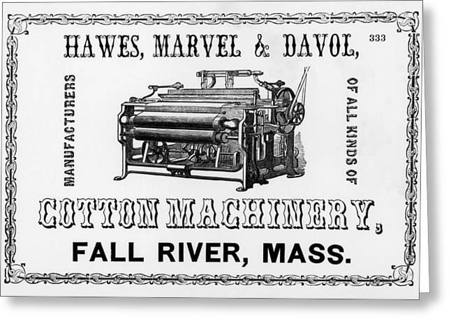 Cotton Machinery Advertisement Greeting Card