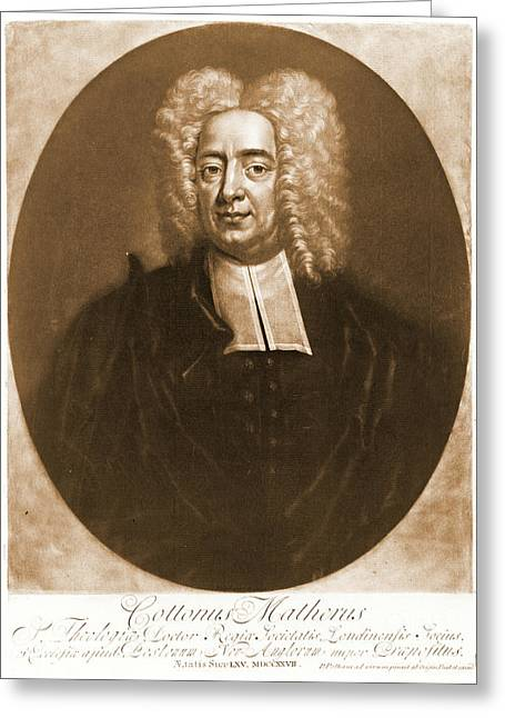 Cotton Mather 1728 Greeting Card by Padre Art