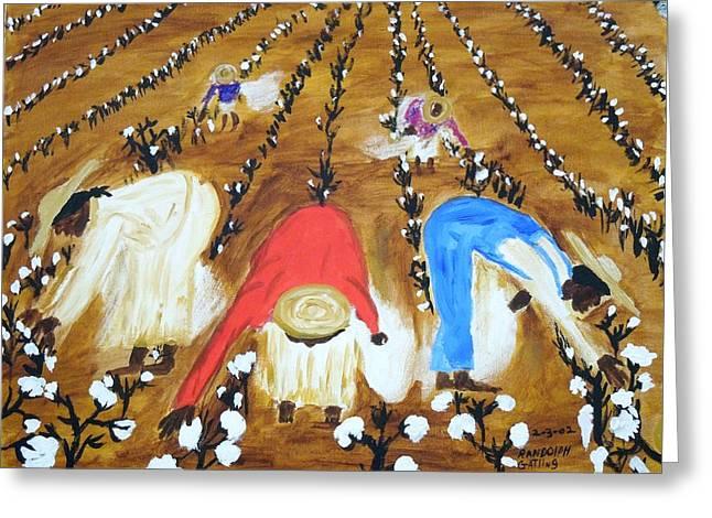 Cotton Picking People Greeting Card