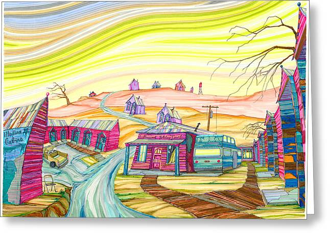Cottonwood Holiday Court Greeting Card by Scott Kirby
