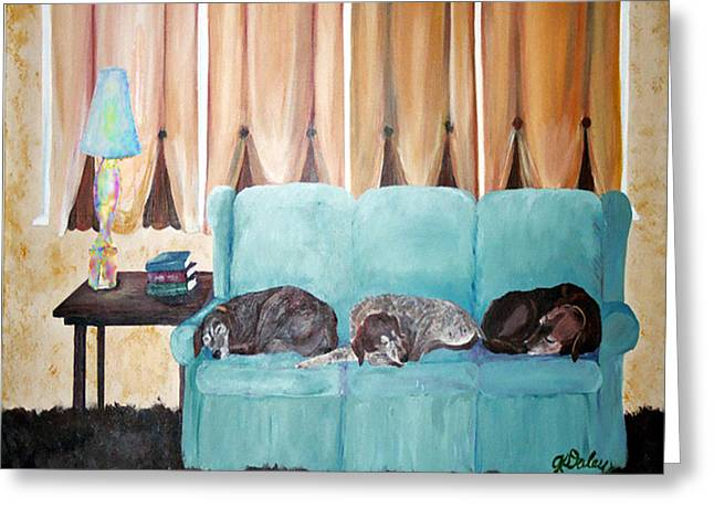 Couch Potatoes Greeting Card by Gail Daley