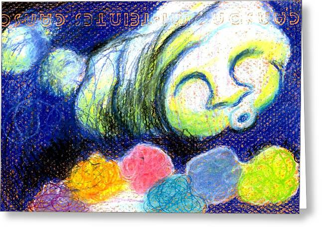 Cloud Flowers Greeting Card by Genevieve Esson