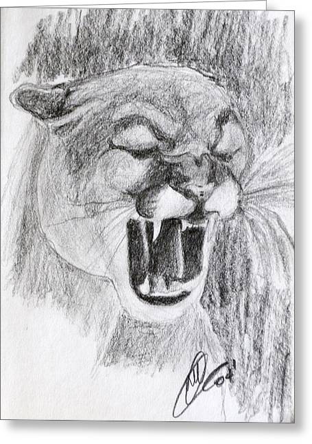 Cougar 2 Greeting Card