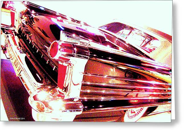 Could You Add Some More Chrome Greeting Card by Don Struke
