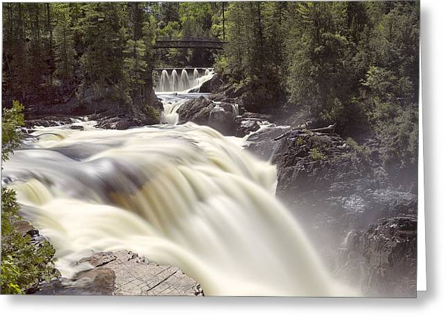 Coulonge Falls Greeting Card by Eunice Gibb