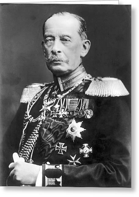 Count Alfred Von Schlieffen (1833-1913) Greeting Card