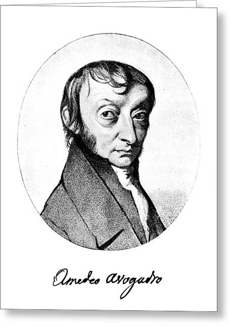 Count Amedeo Avogadro (1776-1856) Greeting Card by Granger