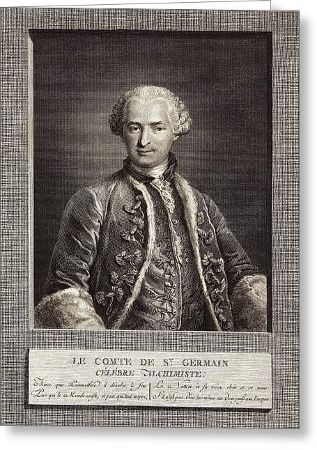 Count Of St Germain, French Alchemist Greeting Card by Science Photo Library