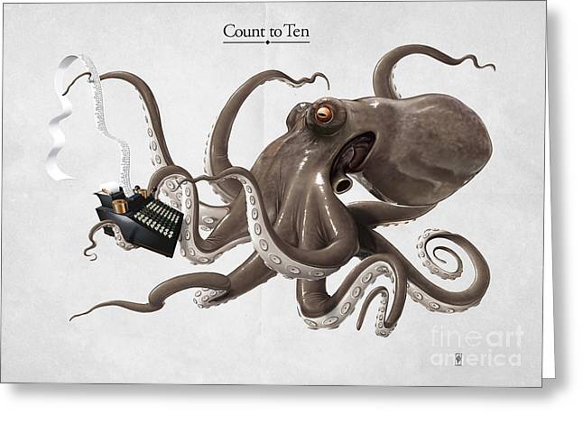 Count To Ten Greeting Card by Rob Snow