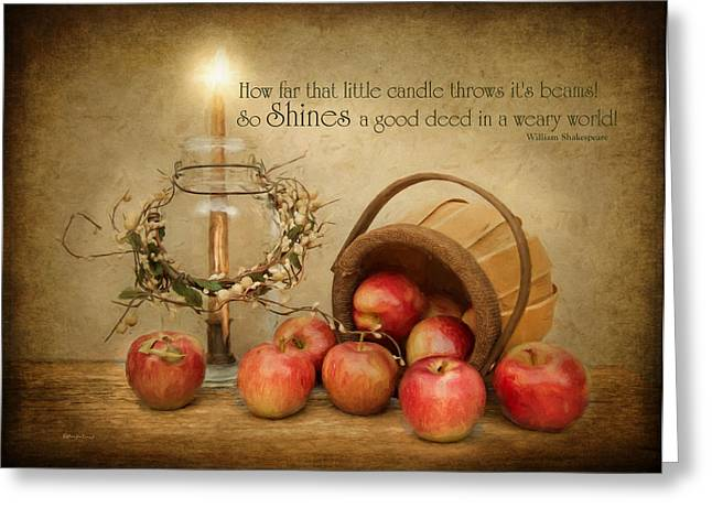 Country Apple Greeting Card by Robin-Lee Vieira