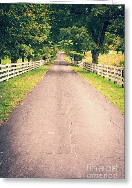 Country Back Roads Greeting Card by Edward Fielding