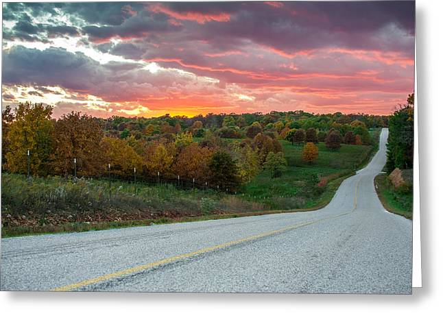 Country Back Roads - Northwest Arkansas Greeting Card by Gregory Ballos