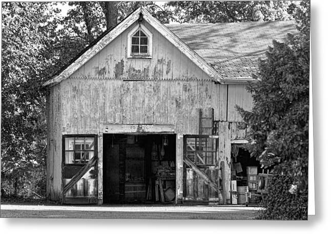 Country - Barn Country Maintenance Greeting Card by Mike Savad