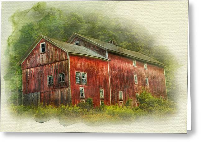 Country Barn Greeting Card by Kathleen Holley