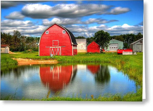 Greeting Card featuring the photograph Country Barnyard by Larry Trupp