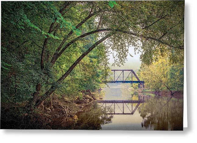 Country Bridge Greeting Card by William Schmid
