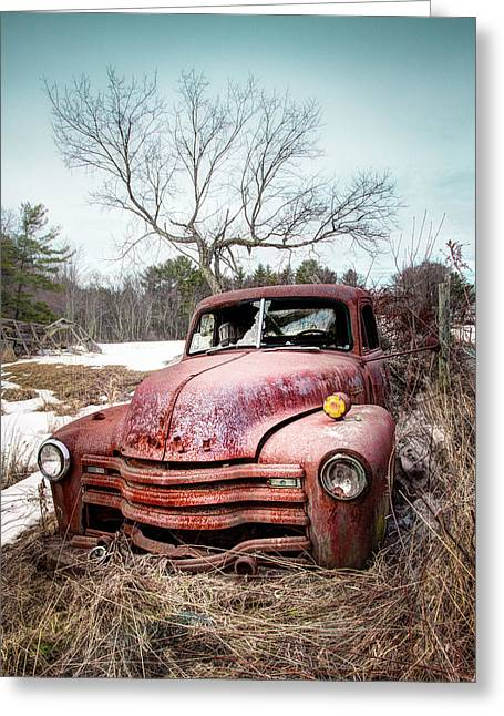 Country Chevrolet - Old Rusty Abandoned Truck Greeting Card