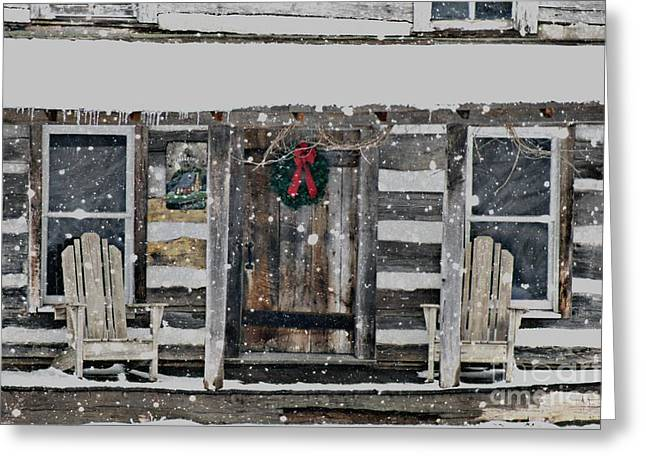 Country Christmas Greeting Card by Benanne Stiens