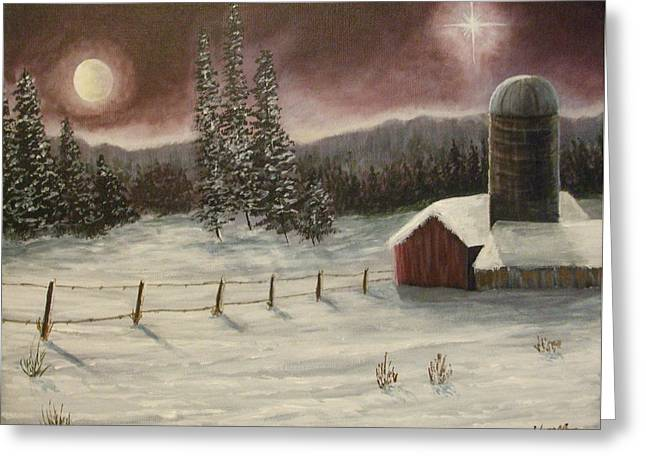 Greeting Card featuring the painting Country Christmas by Dan Wagner
