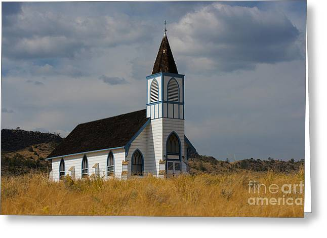 Country Church Greeting Card by Birches Photography