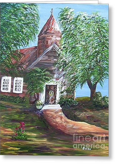 Greeting Card featuring the painting Country Church by Eloise Schneider