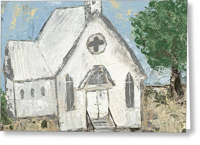 Country Church Greeting Card by Kirsten Reed