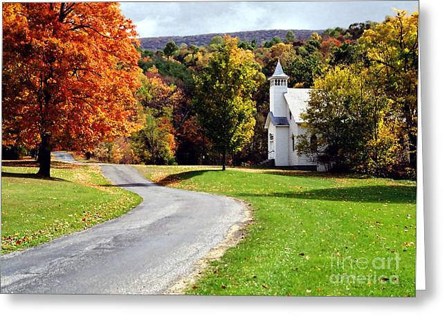 Greeting Card featuring the photograph Country Church by Tom Brickhouse