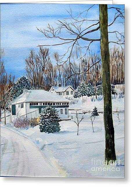 Country Club In Winter Greeting Card