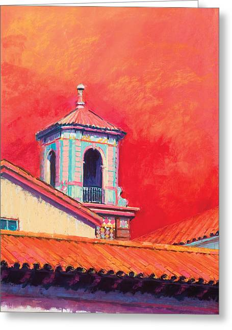 Country Club Plaza Greeting Card by Beverly Amundson