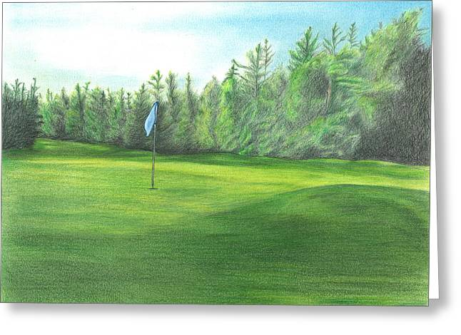 Greeting Card featuring the drawing Country Club by Troy Levesque