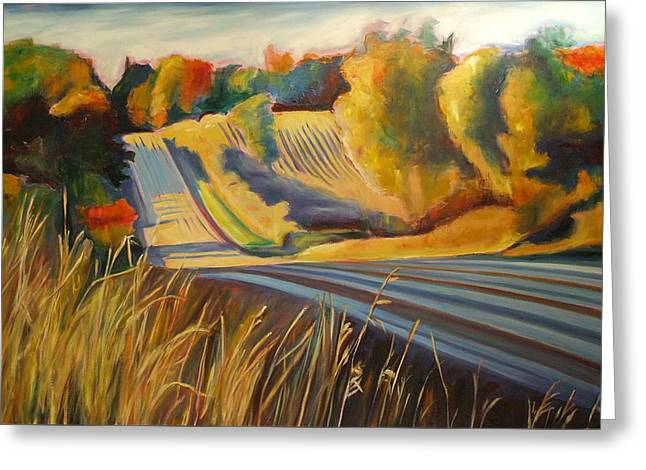 Country Drive Greeting Card by Sheila Diemert