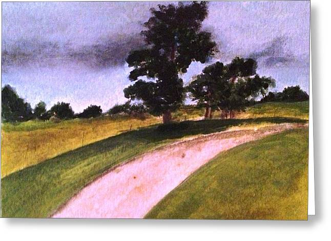 Country Driveway Greeting Card by Andrea Friedell