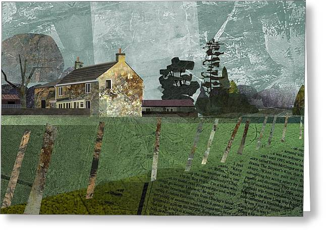 Country Farm Greeting Card by Kenneth North