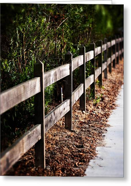 Country Fence Color Greeting Card