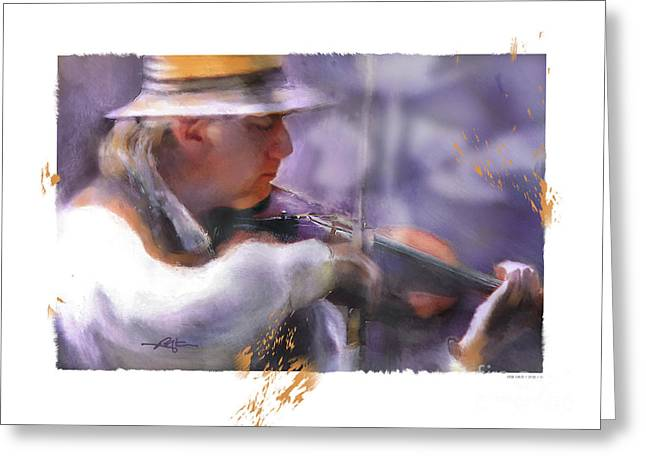 Country Fiddler Greeting Card by Bob Salo