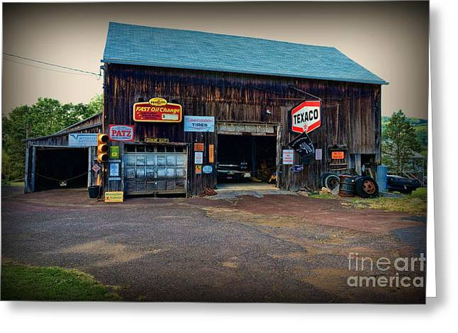 Country Garage Greeting Card by Paul Ward