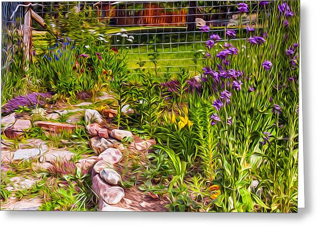 Country Garden Greeting Card by Omaste Witkowski
