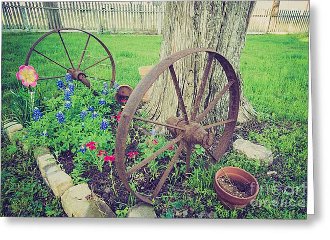 Country Garden Greeting Card by Will Cardoso