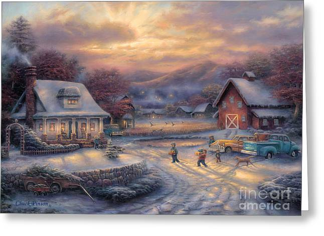 Country Holidays Greeting Card