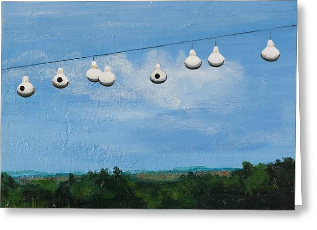 Country Home. Nice View. Greeting Card by Carla Dabney