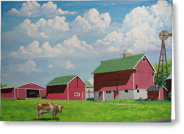 Country Home Greeting Card by Norm Starks