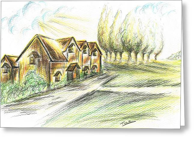 Country Home Greeting Card by Teresa White