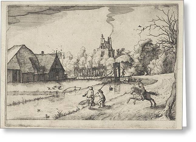 Country House And Orchard Of Jan Daimen, At Sloterdijk Greeting Card by Litz Collection