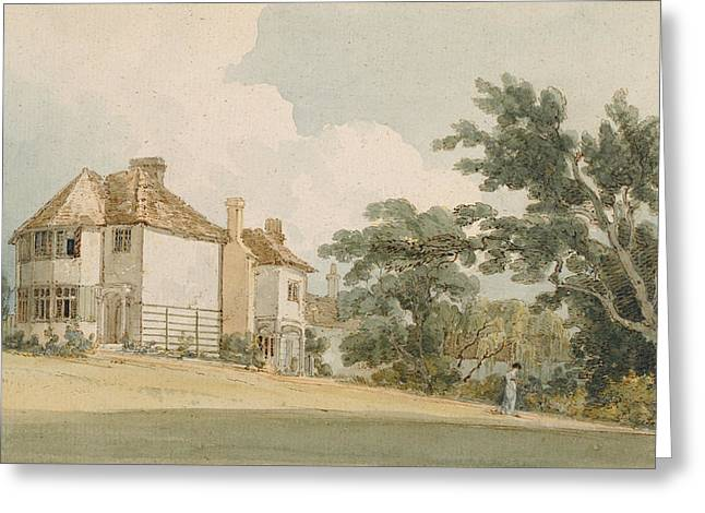 Country House, C.1797 Wc With Pen & Ink Over Graphite On Paper Greeting Card by Thomas Girtin