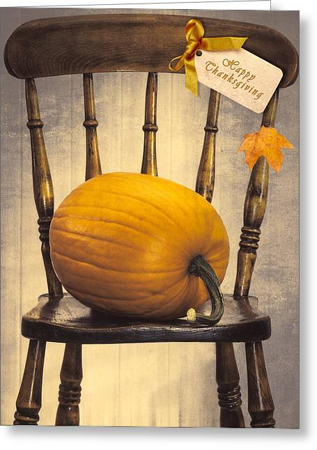 Country House Chair Greeting Card by Amanda Elwell