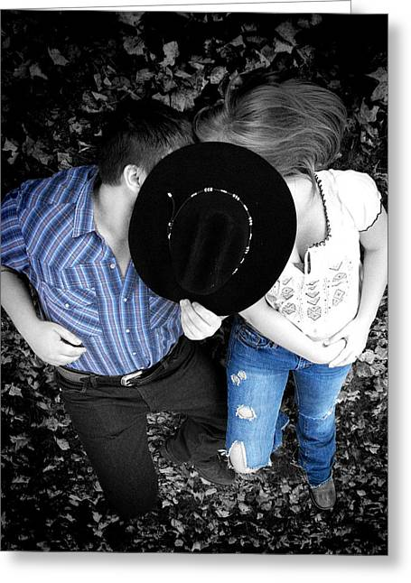 Country Kissin Greeting Card