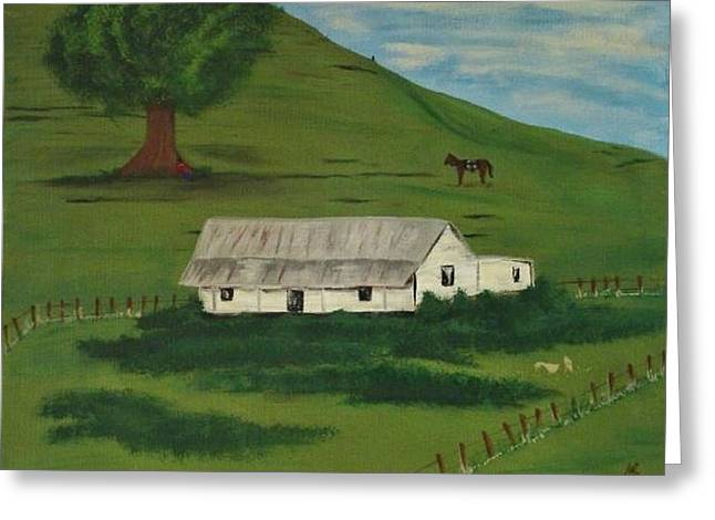 Country Life Greeting Card by Melanie Blankenship