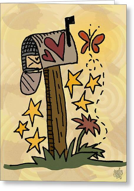 Country Mail Greeting Card