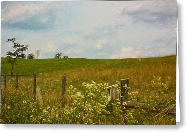 Country Meadow Greeting Card by Kim Hojnacki
